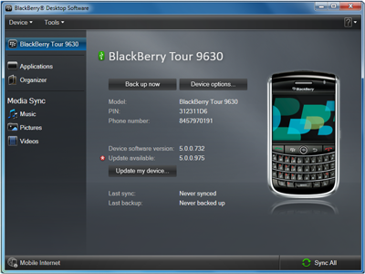 Syncing Ringtones with Blackberry Desktop Manger