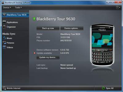 Syncing Ringtones with Blackberry Desktop Manger